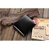 Business style Casual Genuine Leather short paragraph Wallet Thin section hand bag for Men Black Q33