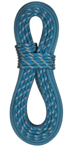 Double Dry Rope - BlueWater Ropes 10.2mm Eliminator Double Dry Dynamic Single Rope (Bi-Pattern Blue, 60M)