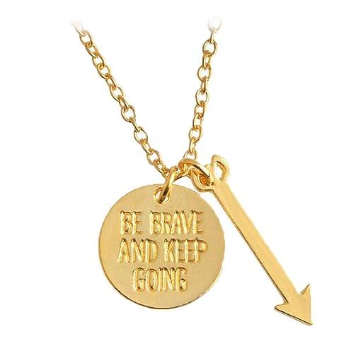 Unikate & Goldschmiedearbeiten Mutig Halskette Mit Anhänger Vergoldet
