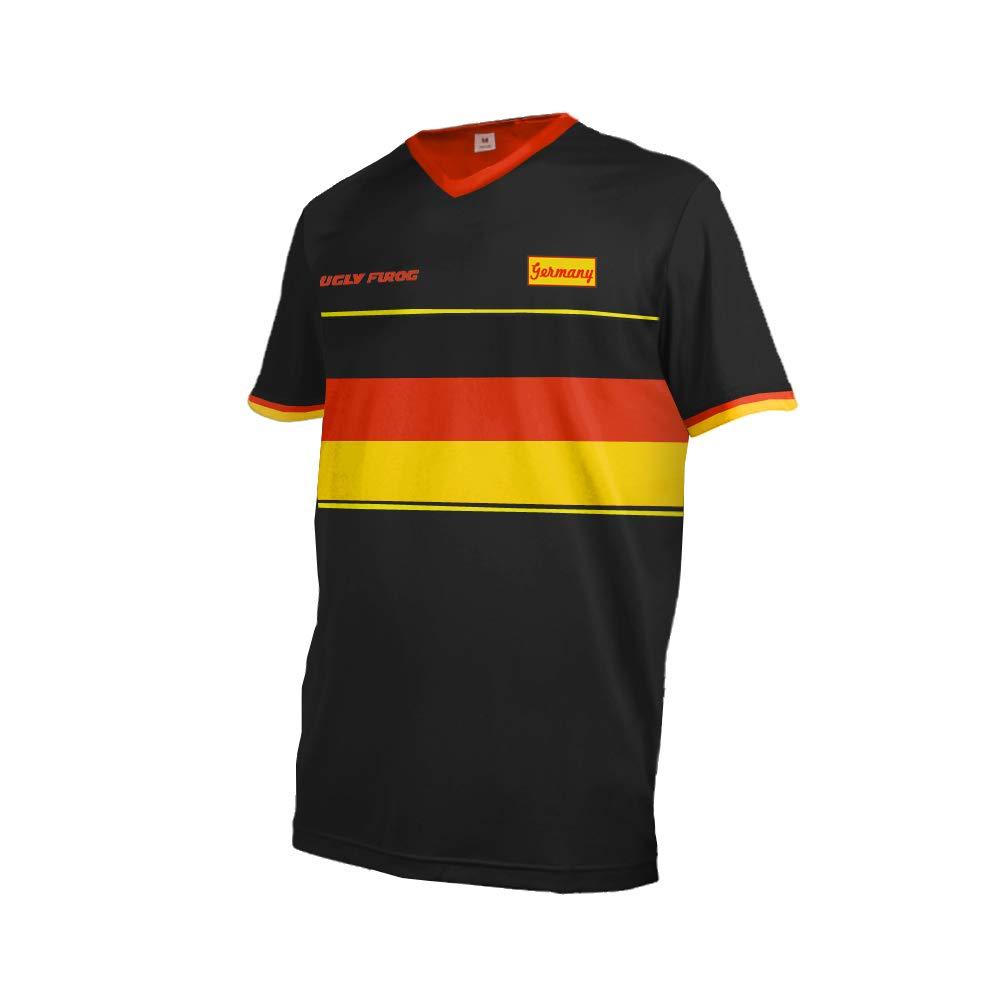Uglyfrog Deutschland Nationalflagge Designs Element Jersey RACEWEAR Herren Kurzarm/Langarm Downhill Jersey Rennrad Radtrikot Moto Cross Motorrad Trikot DEHerDownFT02