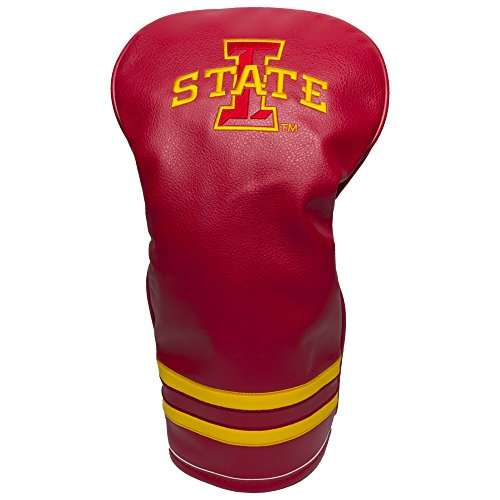 Iowa Headcover Golf - Team Golf NCAA Iowa State Cyclones Vintage Driver Golf Club Headcover, Form Fitting Design, Retro Design & Superb Embroidery