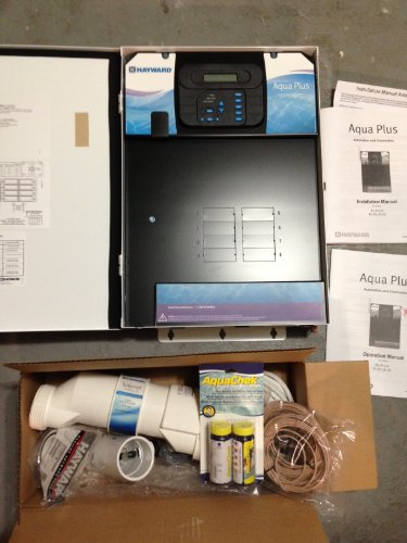 Hayward PL-PLUS-20G 20K-Gallon AquaPlus Salt Chlorinator and Chemical Automation Pool and Spa Control System