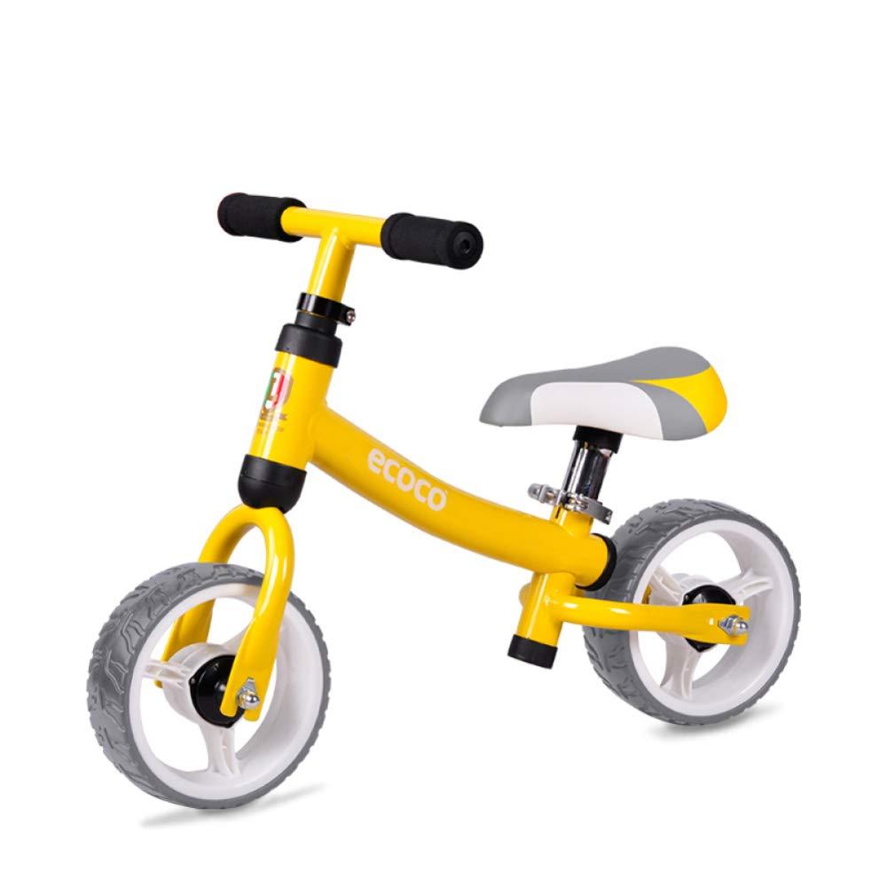 Reducción de precio GSDZN - Bicicleta Sin Pedales, Marco De Acero De Alto Carbono, EVA Rueda Suave, Ultra Ligero 6,6 Libras, 2-4 Años, 80-100cm,Yellow