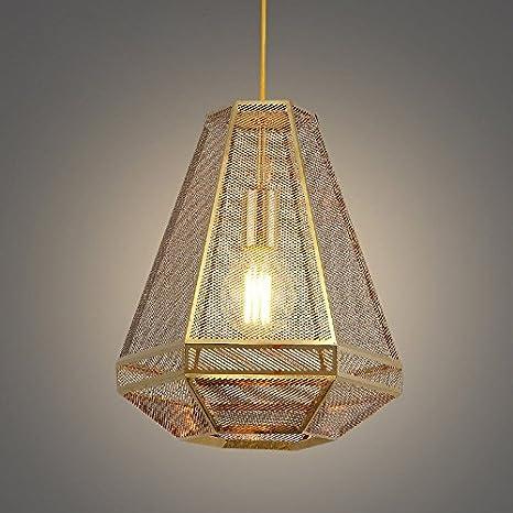 Iluminación colgante,Mallas romboidales sombra Single-Light ...