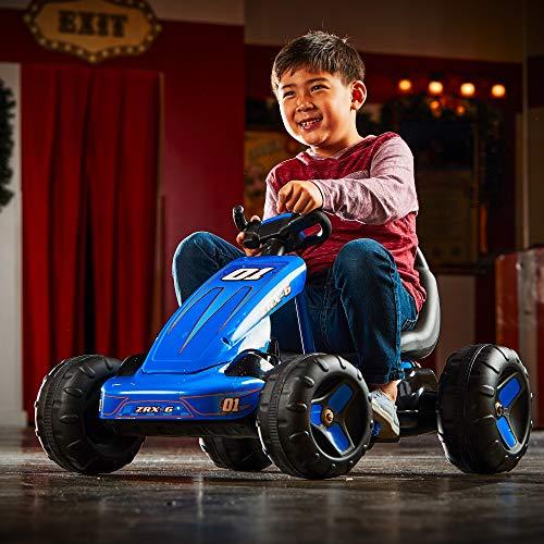515GmrQNsGL - Huffy 17197P 6V 2 in 1 Ride On Car for Kids, Flat Kart Toy, Blue