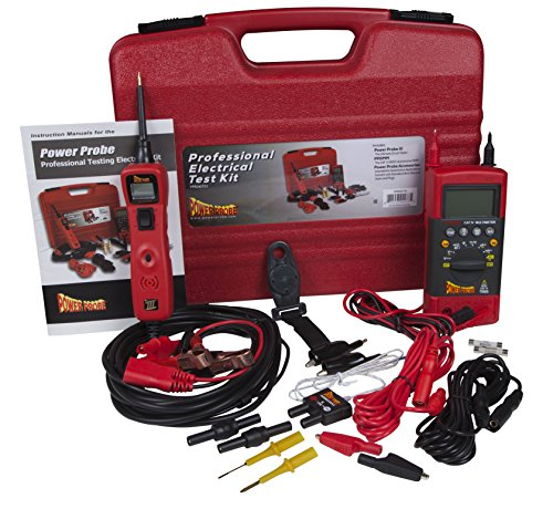 Power Probe Professional Electrical Test Kit - Red (PPROKIT01) Inc III w/PPDMM & Accessories [Measures Resistance, Current & Frequency] ()