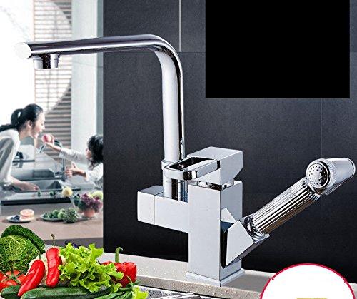 Good quality Antiquitäten Becken Spül Mischer Tap Pull-Typ heiß und kalt Küchenarmatur Kupfer universal Schwenkausdehnung und Kontraktion
