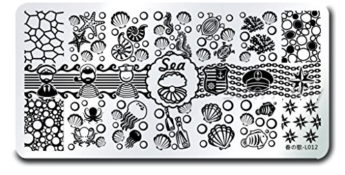 Sea Shell Starfish Nail Art DIY Stamping Stainless Steel Template Stencil Image Plate Stamper Kit