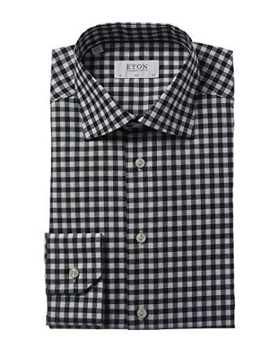 Eton Mens Slim Fit Dress Shirt, 40, Green