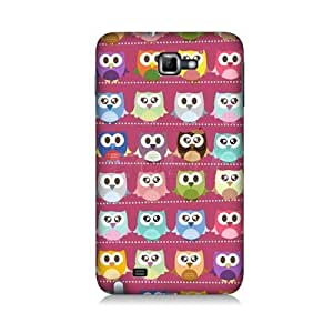 Kawaii Pink Owl Patterned Protective Back Case Cover for Samsung Galaxy Note N7000 I9220