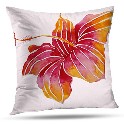 Pakaku Throw Pillows Covers for Couch/Bed 16 x 16 inch,Boho Chic Hawaiian Flower Cotton Home Sofa Cushion Cover Pillowcase Gift Decorative Hidden Zipper Design Cotton and Polyester ()