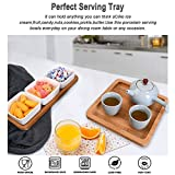 Ceramic Snack Serving Tray,3-Compartment Serving