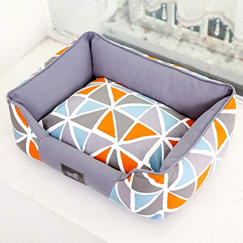1 SAmio Warm Pet Bed, Sofa Bed, Cat Litter, Can Be Washed With Water,Easy To Clean (color   01, Size   S)