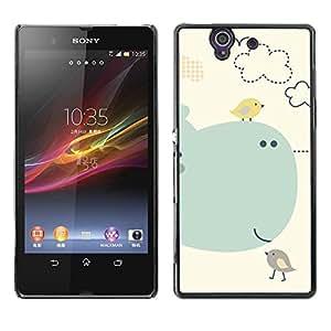 Be Good Phone Accessory // Dura Cáscara cubierta Protectora Caso Carcasa Funda de Protección para Sony Xperia Z L36H C6602 C6603 C6606 C6616 // Kids Drawing Cute Mother Mom Child