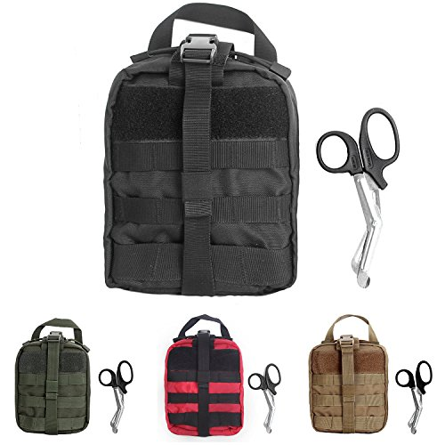 Tactical MOLLE Rip-Away EMT Medical First Aid Utility Pouch (Black) ()