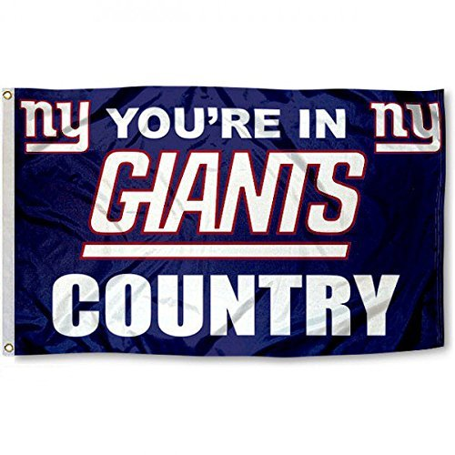 Five Star Flags New New York Giants Flag, Giants Flag, Flag for Indoor or Outdoor Use, 100% Polyester, 3 x 5 Feet.