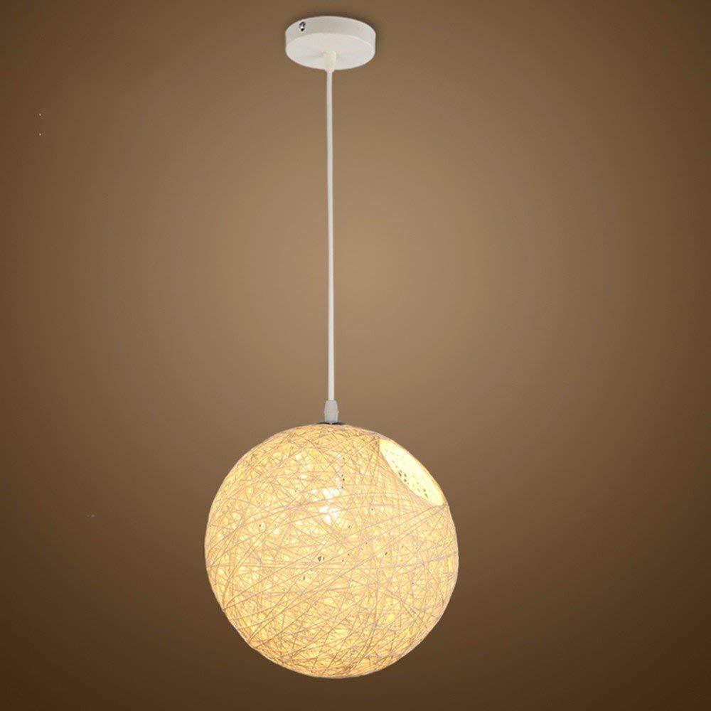 EI Kreative Haushaltsbeleuchtung Schlafzimmer Wohnzimmer Persönlichkeit Lampen und Kronleuchter Ma Ball Frigobar Ktv Beige Einstellbare Diameter30Cm