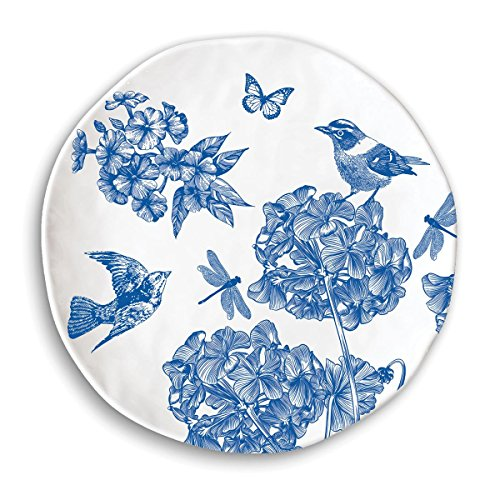 (Michel Design Works Dinner Plate, Indigo Cotton )