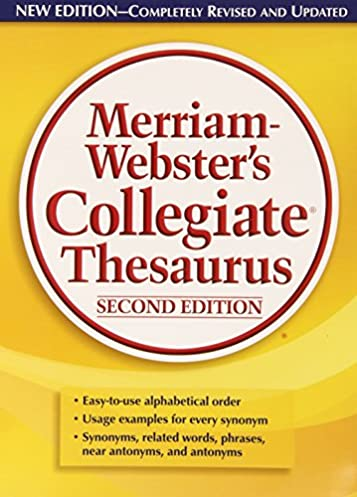 Merriam-Websteru0027s Collegiate Thesaurus Second Edition 2nd ed. Edition  sc 1 st  Amazon.com : door thesaurus - Pezcame.Com