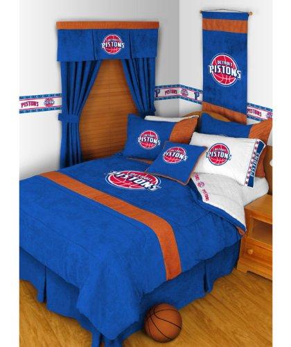NBA Detroit Pistons Queen MVP Comforter Pillowcases by NBA