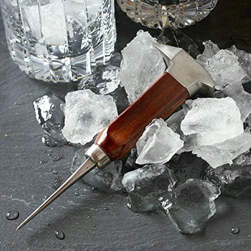 Duokon 6,7 Zoll Edelstahl Eispickel mit Sicherheit Holzgriff, Eiswürfel Cocktail-Tool für Küchenbars