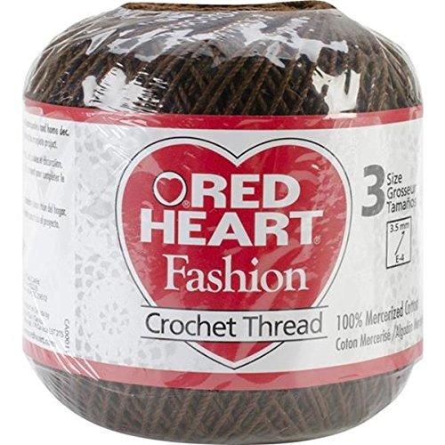 Coats Crochet Red Heart Fashion Crochet, Thread Size 3, Coffee by Coats Crochet