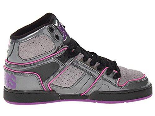 Osiris Women's NYC 83 SLM Skate Shoe (8.5, Charcoal/Grey/Purple)