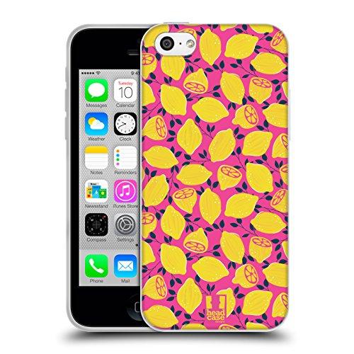 Head Case Designs Limone Stampe Frutta Cover Morbida In Gel Per Apple iPhone 5c