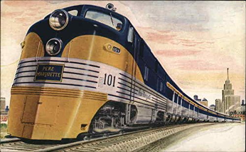 The Pere Marquettes Locomotives Original Vintage Postcard