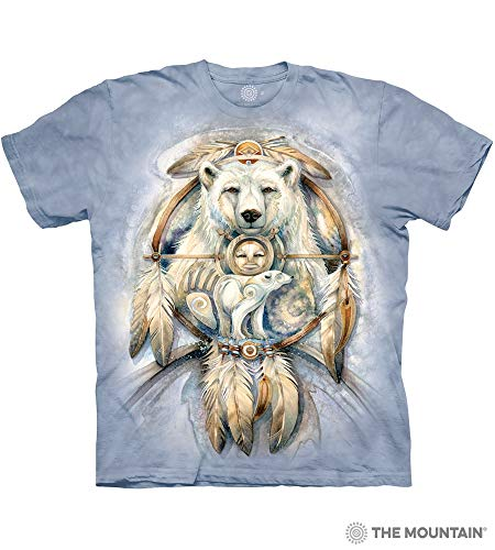 The Mountain Spirit Bear Adult T-Shirt, Blue, Medium ()