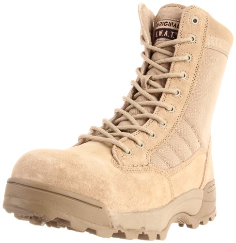 Original S.W.A.T. Men's Classic 9 Inch Side-zip Safety Tactical Boot, Tan, 12 2E US