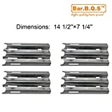 90081 (4-pack) Stainless Steel Heat Plate Replacement for Select Jenn-air and Vermont Castings Gas Grill Models