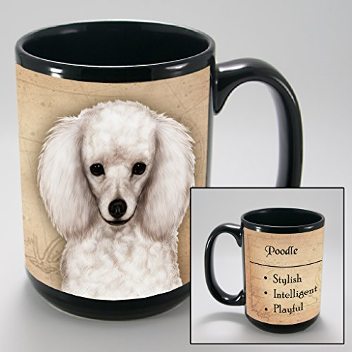 Dog Breeds (L-Z) Poodle White 15-oz Coffee Mug Bundle with Non-Negotiable K-Nine Cash by Imprints Plus (133)