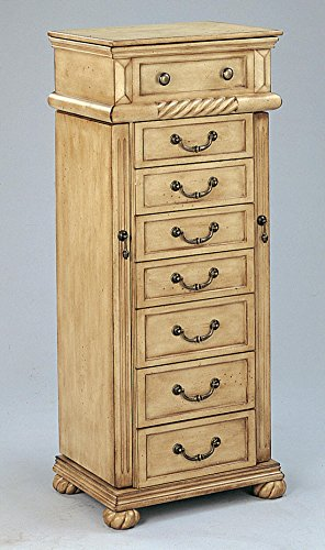 Coaster Home Furnishings 5557 Traditional Jewelry Armoire, Antique Cream