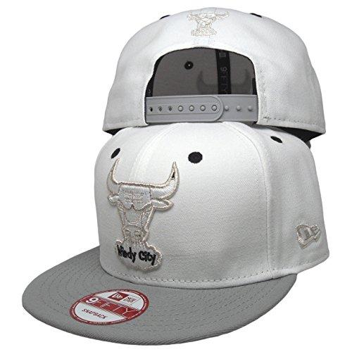 Chicago Bulls 9fifty New Era Custom Snapback to Match Nike Air Jordan 5 Retro White / Metallic Silver