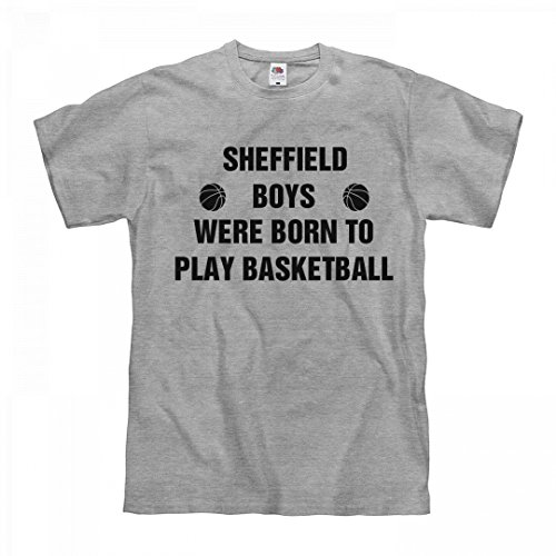 fan products of FUNNYSHIRTS.ORG Sheffield Boys Born to Play Basketball: Unisex Fruit of The Loom Midweight T-Shirt