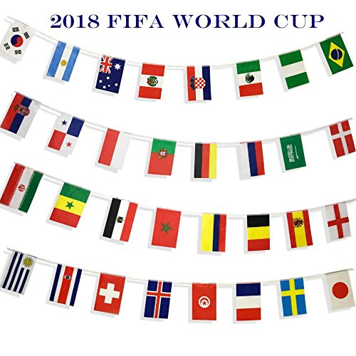 Kind Girl 2018 World Cup Flags Banner,Country Flag International National Flag Banner,Party Decorations Supplies For Parades, World Cup, Sports Events, Festival, Fans, Bars or Sport Clubs