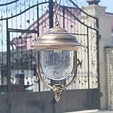 Bwlzsp 1PCS Industrial Wind Retro Light American Country Waterproof Balcony Ceiling lamp corridors Bathroom Ceiling lamp Black Brown Garden Aluminum Lamps WL7121444PY
