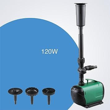 Bomba Sumergible Fuente De Estanque De Acuario Tanque De Pecera Bomba De Agua De Estanque De Estatuas Para Fuente,120W: Amazon.es: Hogar