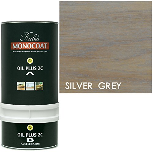Rubio Monocoat Wood Stain Oil Plus 2C Silver Gray 350 - Stain Silver Wood