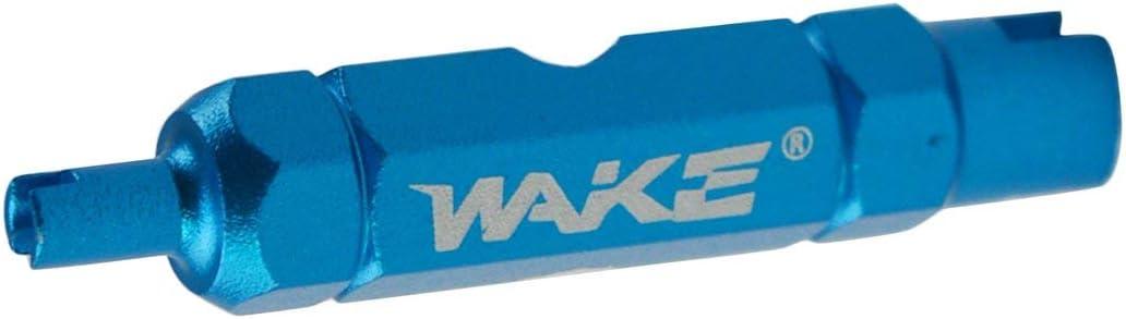 Heaviesk pour Wake Double-t/ête V/élo Cl/é Valve Outil de d/émontage de Noyau Multifonction Valve Core Enl/èvement Outil Cl/é D/émontage