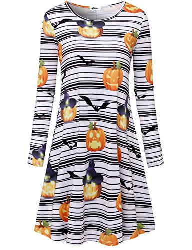 Herou Women Summer Beach Casual Flared Floral Tank Dress (X-Large, (Halloween Party Dress)