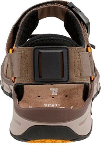 Clarks Men's Explore Part Walking Sandal,Mushroom Nubuck Leather,US 14 M
