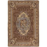 Safavieh Empire Collection EM409A Handmade Traditional European Blue and Brown Premium Wool Area Rug (2′ x 3′) Review