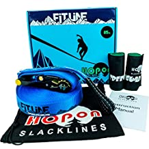 HopOn 85ft Longline Slackline Kit with Ratchet and Tree Protection