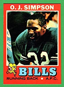 O.J. Simpson 1971 Topps Football Reprint Card **2nd Year Card** (Bills) (49ers)