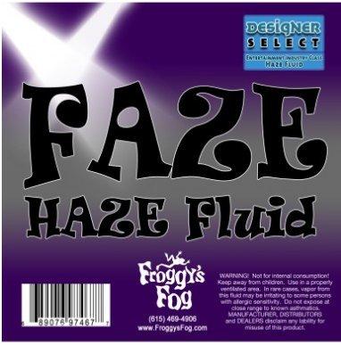 Froggy's Fog Faze Haze - 1 Case (4 Gallons) - Professional Water Based Haze Juice - For Antari F-1, F-5, F-7, Chauvet Professional AMHAZE 2 and Martin Compact (Martin Fog Machine)