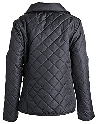 Urban Republic Girls Lightweight Padded Quilted Spring Rain Jacket with Collar