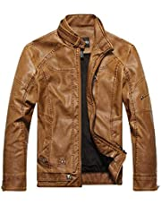Casual Men's PU leather collar collar jacket leather jacket M