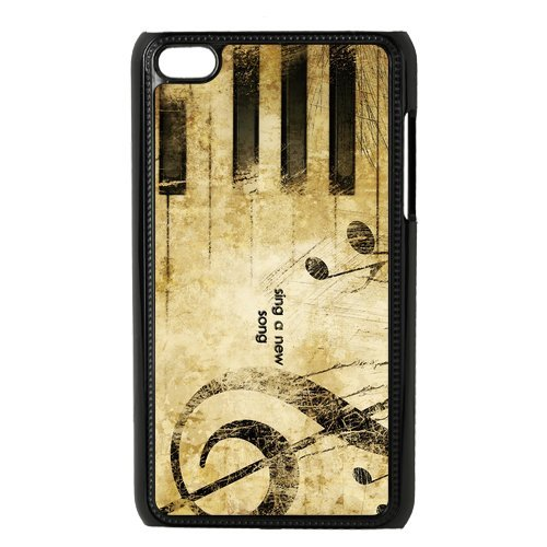 EVA Piano Keyboard iPod Touch 4 Case,Snap-On Protector Hard Cover for iTouch 4 ()